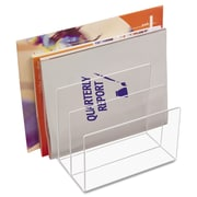 Kantek, Clear Acrylic Desk File, Three Sections, 8 x 6 1/2 x 7 1/2, Clear, Each (AD-45)