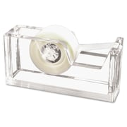 "Kantek, Desktop Tape Dispenser, 1"" Core, Heavy Cast Acrylic, Clear, Each (AD-60)"