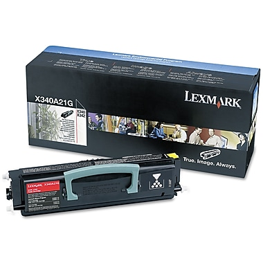 Lexmark™ X340A21G Toner, 2500 Page-Yield, Black