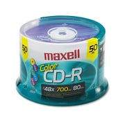 Maxell® CD-R Recordable Disc, 700 MB, Spindle, 50/Pack (648251)