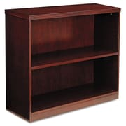 "Mayline® Luminary Series Two-Shelf Bookcase, 2-Shelves, 29"", Standard, Cherry (BC3629C)"