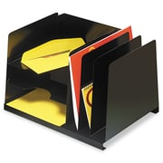 SteelMaster®, Combination Horizontal/Vertical Steel File, Six Sections, 15 x 11 x 8 1/8, Black, Each (264R3HVBK)
