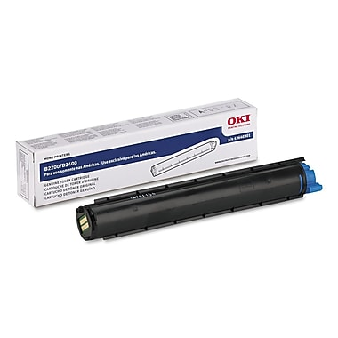 Oki® 43640301 Toner, 2000 Page-Yield, Black