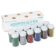 Pacon® Spectra® Glitter, Assorted, Glitter/Powder, 12/Pack (91356)