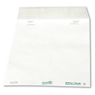 Survivor® Catalog Mailers Made with Tyvek®, White, 10 x 13100/Box (R1580)