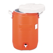 "Rubbermaid® Commercial Five-Gallon Insulated Water Cooler, 5 gal, 10""-Diameter, Polyethylene, Orange, Each (RHP 1840999)"