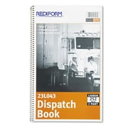 Rediform Dispatch Log Book, 7 1/2 x 2, Each (23L043) by