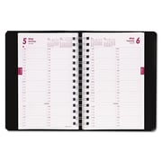 2016, Brownline® Essential Collection Daily Appointment Book, Black (CB800.BLK)