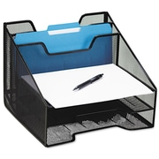 Rolodex™, Combination Sorter, Five Sections, Mesh, 12 1/2 x 11 1/2 x 9 1/2, Black, Each (1742322)