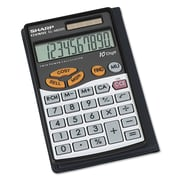 Sharp® EL480SRB Handheld Business Calculator, 10-Digits (EL-480SRB)
