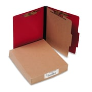 ACCO ColorLife® PRESSTEX® Classification Folders, Top Tab, Executive Red, 10/Box (A7015649)