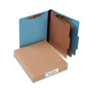 ACCO ColorLife® PRESSTEX® Classification Folders, Top Tab, Light Blue, 10/Box (A7015662)