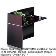Mayline®, Napoli Series Wood Veneer Reception Return Top, 48w x 25d, Mahogany, AA-Grade Select Walnut Veneer (NRRTMAH)