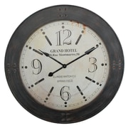 "Yosemite Home Decor 39""H x 39""W x 2.5""D Dark Brown Wall Clock"