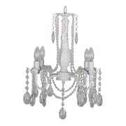 "Yosemite Home Decor Incandescent 14"" 4-Light Chandelier, White"