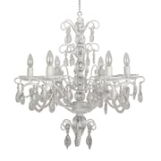 "Yosemite Home Decor Incandescent 21.5"" 6-Light Chandelier, White"