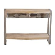 Yosemite Home Decor Solid Mango Wood Sofa Table, Natural