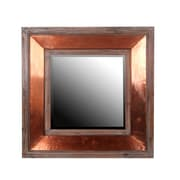 Privilege Wood & Copper Square Wall Mirror