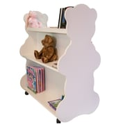 Ace Baby Furniture Bear Mobile Double Sided 41.5'' Bookcase; White