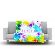 KESS InHouse Seasons Springtime by Sreetama Ray Fleece Throw Blanket; 80'' H x 60'' W x 1'' D