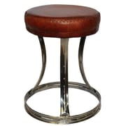 Foreign Affairs Home Decor Circa Leather Stool