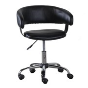 Powell Low-Back Office Chair with Caster; Black