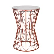 Privilege End Table; Orange