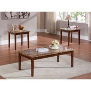 InRoom Designs 3 Piece Coffee Table Set; Cherry