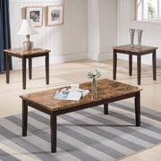 InRoom Designs 3 Piece Coffee Table Set; Espresso