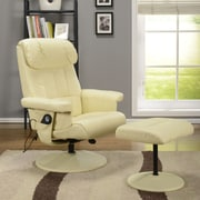 InRoom Designs Relax Arm Chair and Ottoman; Cream
