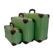 Resource International Vintage Travelers Weekender 3 Piece Suitcase Set; Soft Green