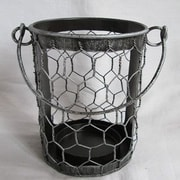 Craft Outlet Tin Wire Basket (Set of 2); Antique Silver