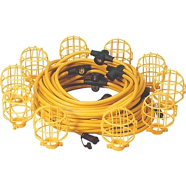 Lind Equipment Heavy-Duty Molded Stringlights with Plastic Cage, 50'