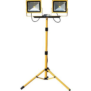 Lind Equipment Beacon Light 50W LED Floodlights, Dual Head with Tripod