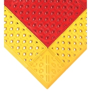 "Wearwell F.I.T.™ Kits No. 546 Emergency Shower Station Mats, 27"" x 42"", Red with Yellow Border"