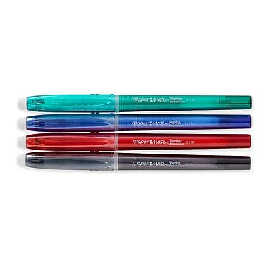 Paper Mate® Replay Premium Erasable Gel Pen, 0.7mm, Black, Blue, Red, Green, 4/Pack