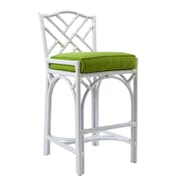 David Francis Furniture Chippendale 27'' Bar Stool with Cushion; Glacier