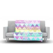 KESS InHouse Stripes Cushion by Sreetama Ray Fleece Throw Blanket; 90'' H x 90'' W x 1'' D