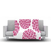 KESS InHouse Raspberry Blossoms by Pom Graphic Design Fleece Throw Blanket; 40'' H x 30'' W x 1'' D