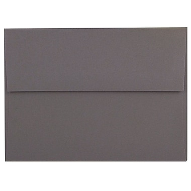 JAM Paper® A8 Invitation Envelopes, 5.5 x 8.125, Dark Grey, 250/Pack (36396435H)