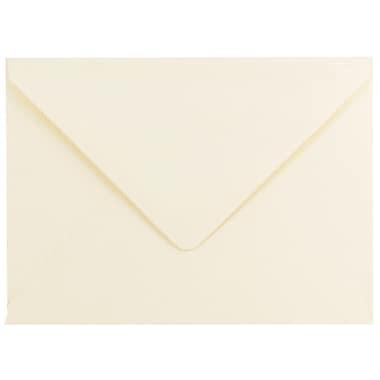 JAM PaperMD – Enveloppes Strathmore A7 en papier cartonné, fini vergé ivoire, 250/paquet