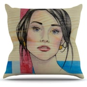 KESS InHouse Face by Brittany Guarino Cotton Throw Pillow