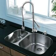 Vigo Platinum 31.5'' x 20.5'' Undermount Stainless Steel Kitchen Sink with Faucet