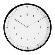Peter Pepper 11.75'' Wall Clock; Aluminum Finish