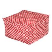 OC Fun Saks Bamboo Bean Bag Ottoman; Red