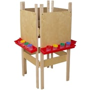 Wood Designs Adjustable Flipchart Easel; Plywood
