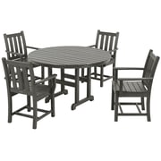POLYWOOD  Traditional 5 Piece Garden Dining Set; Slate Grey