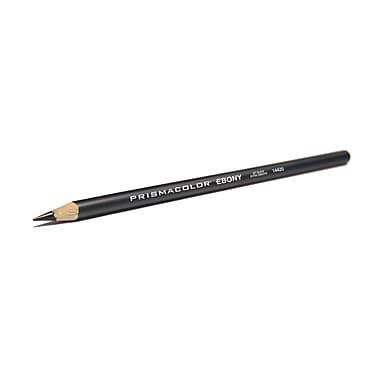 Prismacolor ® Drawing Soft Pencil, 4 mm Dia, Black, 12/pk (14420)