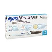 Expo® Vis-a-vis® Wet-Erase Overhead Markers, Fine Point, Black, 12/pk (16001)