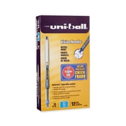 uni-ball® Vision™ Needle Rollerball Pens, Fine Point, Blue, Dozen